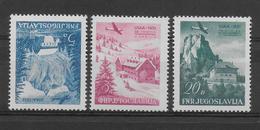 YOUGOSLAVIE - 1951 - POSTE AERIENNE YT 42/44 ** (PETITE ADHERENCE SUR LE 43) - COTE = 100 EUR. - Neufs