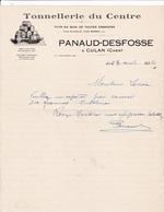 18-Panaud-Desfosse Tonnellerie Du Centre,Futs En Bois...Culan (Cher) 1936 - Petits Métiers