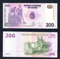 CONGO DR  -  2013  200 Francs  UNC Banknote - Democratic Republic Of The Congo & Zaire