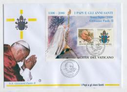FDC X80 Vatican 2000 Block CV 4.50 Eur Relogion Pope John Paul II - Postzegels
