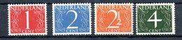 Pays Bas / Série N 457 à 460 /  NEUFS Avec Charnière - 1891-1948 (Wilhelmine)