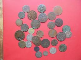 ETATS ALLEMANDS (18e+19e SIECLE) BEAU LOT 31 MONNAIES ARGENT+CUIVRE - Monnaies & Billets