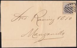 1880. HABANA A MANZANILLO. 25 CTS. AZUL ED. 59. - Cuba