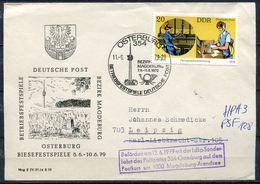 """DDR,GDR 1979 Sonderbeleg Post Betriebsfestspiele Mit Mi.Nr.2400 U.SST""""Osterburg-Deutsche Post Betriebsfest""""1 Beleg - Post"""