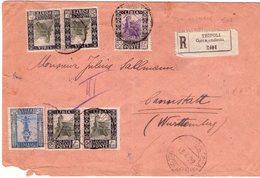 Lettera Raccomandata Da Tripoli Per Wurttemberg 13 4 22  VEDERE 2 Foto - Libia