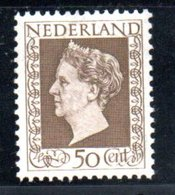 Pays Bas /  N 489 / 50 C Sépia /  NEUFS Avec Charnière - Period 1891-1948 (Wilhelmina)