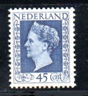 Pays Bas /  N 488 / 45 C Bleu  /  NEUF Avec Charnière - 1891-1948 (Wilhelmine)