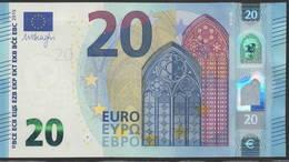 "EURO 20  ITALIA SD S018  ""35""  DRAGHI  UNC - EURO"