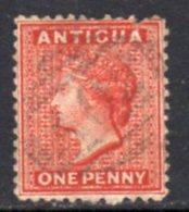 Antigua QV 1872 1d Lake, Wmk. Crown CC, Perf, 12½, Used, SG 13 - Antigua & Barbuda (...-1981)