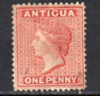 Antigua QV 1876 1d Lake-rose, Wmk. Crown CC, Perf, 14, Used, SG 17 - Antigua & Barbuda (...-1981)