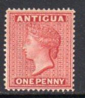 Antigua QV 1884-7 1d Carmine-red, Wmk. Crown CA, Perf, 14, Hinged Mint, SG 25 - Antigua & Barbuda (...-1981)