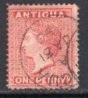 Antigua QV 1884-7 1d Carmine-red, Wmk. Crown CA, Perf, 14, Used, SG 25 - Antigua & Barbuda (...-1981)