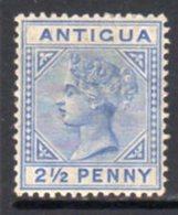Antigua QV 1884-7 2½d Ultramarine, Wmk. Crown CA, Perf, 14, Hinged Mint, SG 27 - Antigua & Barbuda (...-1981)