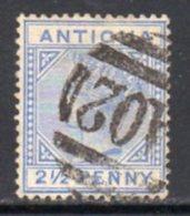 Antigua QV 1884-7 2½d Ultramarine, Wmk. Crown CA, Perf, 14, Used, SG 27 - Antigua & Barbuda (...-1981)