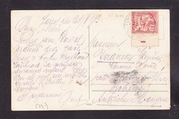 """EXTRA-18-07-02 OPEN LETTER FROM CONSTANTINOPOL TO AUSTRIA. TAB WITH THE """"1"""". MAURY = 75 EURO. - Levant (1885-1946)"""