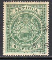 Antigua 1908-17 ½d Green, Wmk. Mult. Crown CA, Perf, 14, Used, SG 41 - Antigua & Barbuda (...-1981)