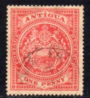 Antigua 1908-17 1d Red, Wmk. Mult. Crown CA, Perf, 14, Used, SG 43 - Antigua & Barbuda (...-1981)