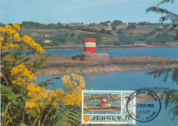 D34610 CARTE MAXIMUM CARD 1971 JERSEY - MARTELLO TOWER DEFENSE TOWER CP ORIGINAL - Altri