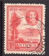 Antigua GV 1932 Tercentenary Issue 1d Scarlet, Used, SG 82 - Antigua & Barbuda (...-1981)