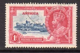 Antigua GV 1935 Silver Jubilee Issue 1d Blue & Carmine, Used, SG 91 - Antigua & Barbuda (...-1981)