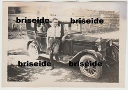 N. 3 FOTOGRAFIE FORMATO CM.8,5 X 6 AUTO FIAT 521 BERLINA DEL 1928 TARGA TRENTO TN 1254 - Automobili