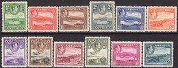 Antigua GVI 1938-51 Definitives Complete Set Of 12 To £1, Hinged Mint, SG 98/109 - Antigua & Barbuda (...-1981)