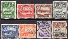 Antigua GVI 1938-51 Definitives Part Set Of 8 To 1/-, Used, SG 98/105 - Antigua & Barbuda (...-1981)