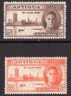 Antigua GVI 1946 Victory Set Of 2, MNH, SG 110/1 - Antigua & Barbuda (...-1981)