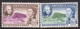 Antigua 1961 Nelson's Dockyard Set Of 2, Hinged Mint, SG 140/1 - Antigua & Barbuda (...-1981)