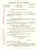 """DOMAINE DE ST-ETIENNE""""GRAND RHUM DES CARAVELLES""""MARTINIQUE-FORT DE FRANCE-TARIF+MANDAT-CARTE +ENVELOPPE RETOUR - France"""