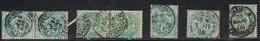 TYPE BLANC - LOT OBLITERATION - PHILIPPEVILLE ET ALGER (ALGERIE), PARIS ETRANGER, PARIS PERIODIQUE. - Marcophily (detached Stamps)