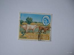RHODESIA 1966. Queen Elizabeth II. 5s. Cattle. SG 385. Used. - Southern Rhodesia (...-1964)