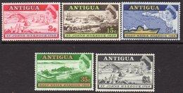 Antigua 1968 Deep Water Harbour Set Of 5, MNH, SG 221/5 - 1960-1981 Interne Autonomie