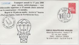 Cachet Temporaire Quincey 2000 Avec Vignette Transport Annulé - 1961-....