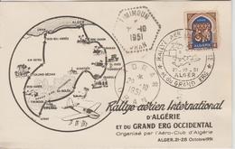 Carte Rallye Aérien International 1951 - Algeria (1924-1962)