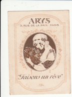 PARFUM - ARYS - 1920 - FAISONS UN REVE - Cartes Parfumées