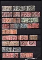 Stock De Timbres De France Obl. Par Multiples Avec Variétés Entre Année 1900 Et 1960 Environs 2900 Timbres Forte Côte - Sammlungen (im Alben)