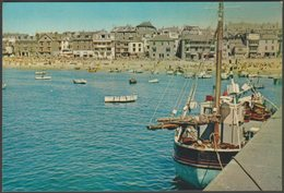 Looking Across The Harbour, St Ives, Cornwall, C.1960s - Harvey Barton Postcard - St.Ives