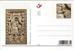36146 Belgium, Stationery Card  2007 Showing St. Gregorius, Saint Gregoire Et Trois Scribes - Christianisme