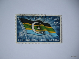 FEDERATION OF SOUTH ARABIA 1965. Federal Flag. 250 Fils. SG 14. Used. - Yemen