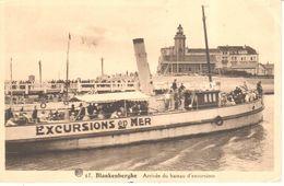 Blankenberge - CPA -  Arrivée Du Bateau D'excursions - Blankenberge