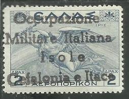ITACA 1941 CEFALONIA MITOLOGICA  2 DRACME DRX MLH FIRMATO SIGNED - Cefalonia & Itaca