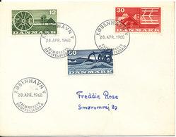 Denmark FDC 28-4-1960 Complete Set Of 3 Agriculture Motives - Agriculture