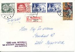 Denmark Registered Cover Sönderborg 31-3-1981 With Complete Set Of 3  (light Bended Cover) - Denmark