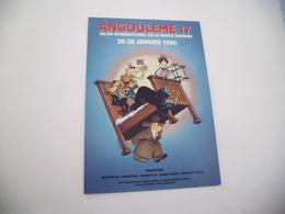BELLE ILLUSTRATION ...17E SALON DE LA BD ...ANGOULEME 1990..AFFICHE RENE PETILLON - Fumetti