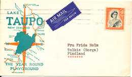 New Zealand Cover Sent To Finland 1960 Single Franked - Lettres & Documents