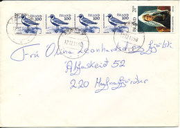 Iceland Cover With More Stamps 12-12-1990 - 1944-... Republique