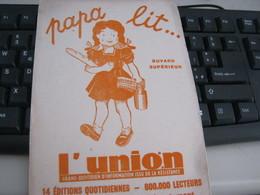 BUVARD PUBBLICITARIA L'UNION - Buvards, Protège-cahiers Illustrés