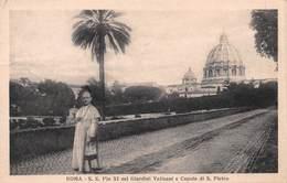 Roma Pio XI Nei Giardini Vaticani E Cupola Di S. Pietro - 1931 - Vatican