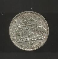 AUSTRALIA - ELIZABETH II - FLORIN ( 1963 ) AG SILVER - Monnaie Pré-décimale (1910-1965)